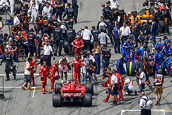 July 22, 2018 - Hockenheim, Germany - Motorsports: FIA Formula One World Championship 2018, Grand Prix of Germany, . Starting Grid, #5 Sebastian Vettel (GER, Scuderia Ferrari) (Credit Image: © Hoch Zwei via ZUMA Wire)