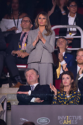 Melania Trump attends the 2017 Invictus Games Opening Ceremony at the Air Canada Centre in Toronto, Canada on September 23, 2017. (Photo by Dominic Chan/Sipa USA)