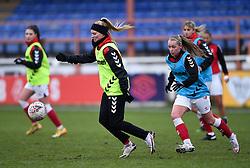 Molly Pike of Bristol City Women warms up prior to kick off  - Mandatory by-line: Ryan Hiscott/JMP - 14/02/2021 - FOOTBALL - Twerton Park - Bath, England - Bristol City Women v Chelsea Women - FA Womens Super League 1