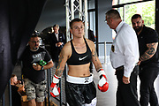 Boxen: Bielefeld, 10.07.2021<br /> Naomi Mannes (GER) -  Claudia Vigh (HUN)<br /> © Torsten Helmke