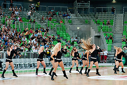 Cheerleaders Green Dragons at friendly match between Slovenia and Montenegro for Adecco Cup 2011 as part of exhibition games before European Championship Lithuania on August 7, 2011, in SRC Stozice, Ljubljana, Slovenia. (Photo by Matic Klansek Velej / Sportida)