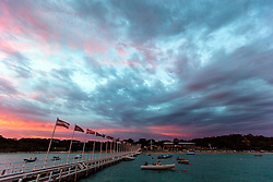 Sunrise at Day 4 of the McDougall + McConaghy 2015 Moth Worlds, Sailing Anarchy and Sperry Top-Sider Moth Worlds coverage 2015, Sorrento, Australia. January 11th 2015. Photo © Sander van der Borch.