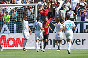 Real Madrid Midfielder Casemiro celebrates his goal 1-1 during the AON Tour 2017 match between Real Madrid and Manchester United at the Levi's Stadium, Santa Clara, USA on 23 July 2017.