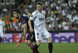 May 9, 2019 - Valencia, Valencia, Spain - Gameiro of Valencia in action during UEFA Europa League football match, between Valencia and Arsenal, May 09th, in Mestalla stadium in Valencia, Spain. (Credit Image: © AFP7 via ZUMA Wire)