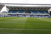 View behind goal during EFL Sky Bet Championship between Millwall and Derby County at The Den Stadium, Saturday, June 20, 2020, in London, United Kingdom. (ESPA-Images/Image of Sport)