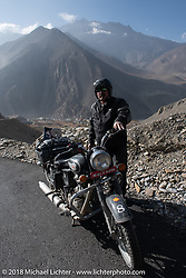 Scotty Busch heads up to 12,000' at the end of day-5  of our Himalayan Heroes adventure riding from Kalopani through the Mustang District to Muktinath, Nepal. Saturday, November 10, 2018. Photography ©2018 Michael Lichter.