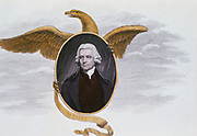 Joseph Priestley (1733-1804) English chemist and Presbyterian minister. From a print published in 1801. Eagle represents the USA as Priestley had emigrated by this time.