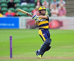 Mark Wallace of Glamorgan in action.  - Mandatory by-line: Alex Davidson/JMP - 24/07/2016 - CRICKET - Cooper Associates County Ground - Taunton, United Kingdom - Somerset v Glamorgan - Royal London One Day