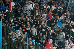 Torcida, fans of HNK Hajduk Split during football match between HNK Rijeka and HNK Hajduk Split in 11th Round of Prva Hrvaska Nogometna Liga MaxTV 2013/14 on September 28, 2013 in Stadion Kantrida, Rijeka, Croatia. (Photo By Urban Urbanc / Sportida.com)