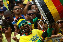 June 17, 2018 - Salvador, Brazil - SALVADOR, BA - 17.06.2018: TORCIDA BRASIL EM SALVADOR - Olodum stirred the fans for the Brazilian national team at the Russian Cup in Pelourinho, in Salvador. (Credit Image: © Mauro Akin Nassor/Fotoarena via ZUMA Press)
