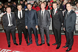 © Licensed to London News Pictures. Former Manchester United footballers Paul Scholes, Phil Neville, Ryan Giggs, Nicky Butt, David Beckham and Gary Neville attend The Class of 92  World Film Premiere at The Odeon West End, Leicester Square, London on 01 December 2013. Photo credit: Richard Goldschmidt/LNP