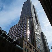A general view of the Empire State Building as seen from a sidewalk in New York City on Monday, September 28, 2015.  (Alex Menendez via AP)