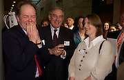 Sir Edmund Fairfax-Lucy, Rodney Mellville and Lady Erica Fairfax- Lucy<br /> Official opening Compton Verney, 23 March 2004. ONE TIME USE ONLY - DO NOT ARCHIVE  © Copyright Photograph by Dafydd Jones 66 Stockwell Park Rd. London SW9 0DA Tel 020 7733 0108 www.dafjones.com