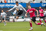 Swansea City forward Liam Cullen (20) during the EFL Sky Bet Championship match between Swansea City and Derby County at the Liberty Stadium, Swansea, Wales on 1 May 2021.