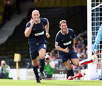 Photo: Chris Ratcliffe.<br />Southend United v Sunderland. Coca Cola Championship. 19/08/2006.<br />Adam Barrett of Southend celebrates scoring the first Southend goal, as Lee Bradbury is behind him.