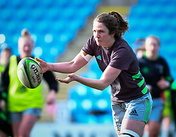 Fi Fletcher of Harlequins warms up before the game - Mandatory by-line: Andy Watts/JMP - 06/02/2021 - Sandy Park - Exeter, England - Exeter Chiefs Women v Harlequins Women - Allianz Premier 15s