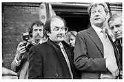 Salman Rushdie, Bruce Chatwin memorial service just after the fatwa announced. Moscow Road, 14.02.89© Copyright Photograph by Dafydd Jones 66 Stockwell Park Rd. London SW9 0DA Tel 020 7733 0108 www.dafjones.com