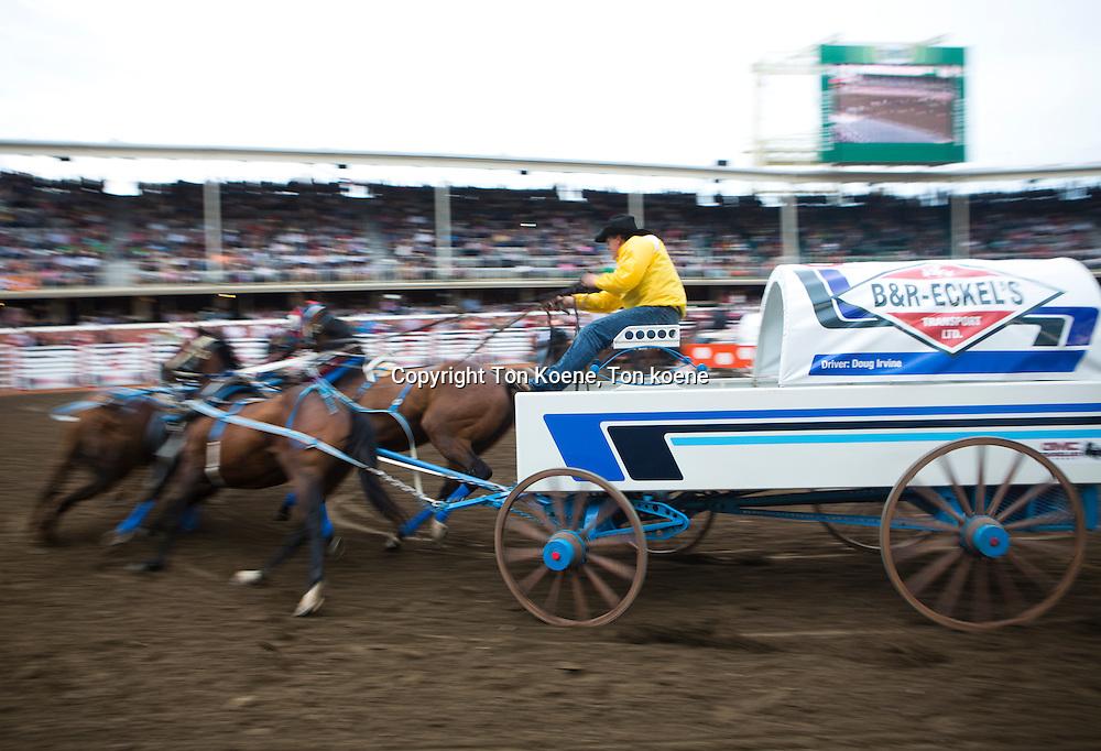 cowboy stampede in Galgary, Canada