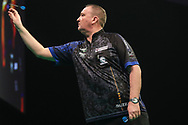 Glen Durrant during the Unibet Premier League darts at Motorpoint Arena, Cardiff, Wales on 20 February 2020.
