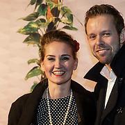 NLD/Amsterdam/20150201 - Premiere Heerlijk duurt het Langst, Peggy Vrijens en partner