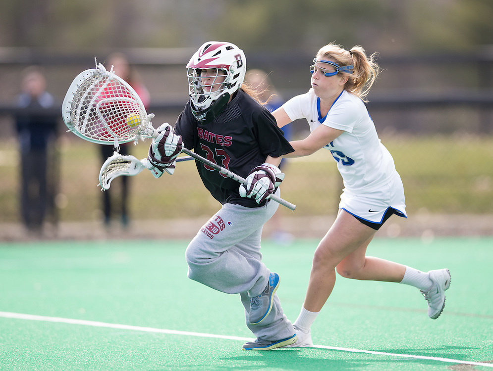 Abby Hooper, of Colby College, in a NCAA Division III lacrosse game against Bates College on April 22, 2015 in Waterville, ME. (Dustin Satloff/Colby College Athletics)
