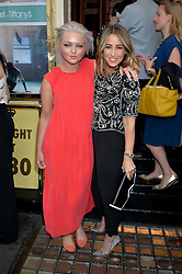 Left to right, HANNAH SPEARRITT and RACHEL STEVENS at the opening night of Breakfast at Tiffany's at The Theatre Royal, Haymarket, London on 26th July 2016.