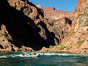 Rafting the Inner Gorge of Grand Canyon between River Miles 97-108. Day 7 of 16 days rafting 226 miles down the Colorado River in Grand Canyon National Park, Arizona, USA.