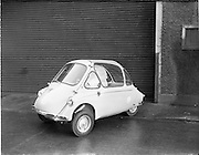 21/01/1960.01/21/1960.21 January 1960.Heinkel car at Lincoln and Nolan Ltd., Baggot Street, Dublin.