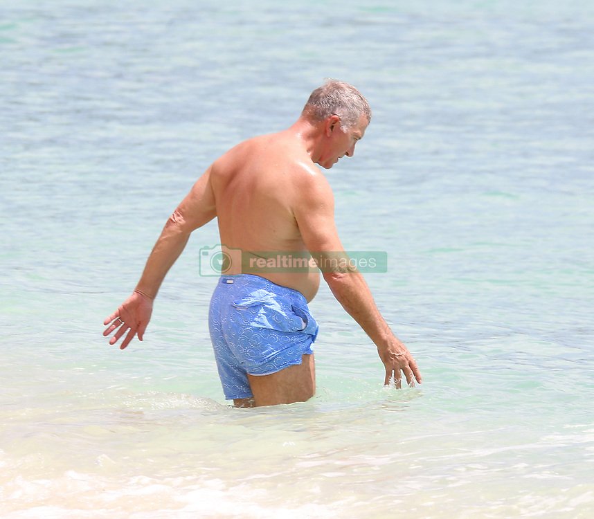 Graeme Souness and wife Karen are pictured at the beach while on holiday in Barbados. 09 Jun 2018 Pictured: Graeme Souness, Karen Souness. Photo credit: Queensofthenorth/MEGA TheMegaAgency.com +1 888 505 6342