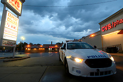 Storm clouds of a severe weather system roll over the Wadsworth/Mt Airy neighborhood in Philadelphia, PA on June 3, 2020. The community in the Northwest section of the city was recently hit by vandalism and looting.