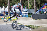 #78 (WHYTE Tre) GBR during practice at Round 5 of the 2018 UCI BMX Superscross World Cup in Zolder, Belgium