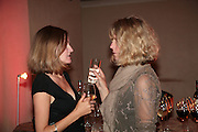 Rebecca Williams and Patricia Lancaster, Millais exhibition opening and Dinner. Tate Gallery. 24 September 2007. -DO NOT ARCHIVE-© Copyright Photograph by Dafydd Jones. 248 Clapham Rd. London SW9 0PZ. Tel 0207 820 0771. www.dafjones.com.