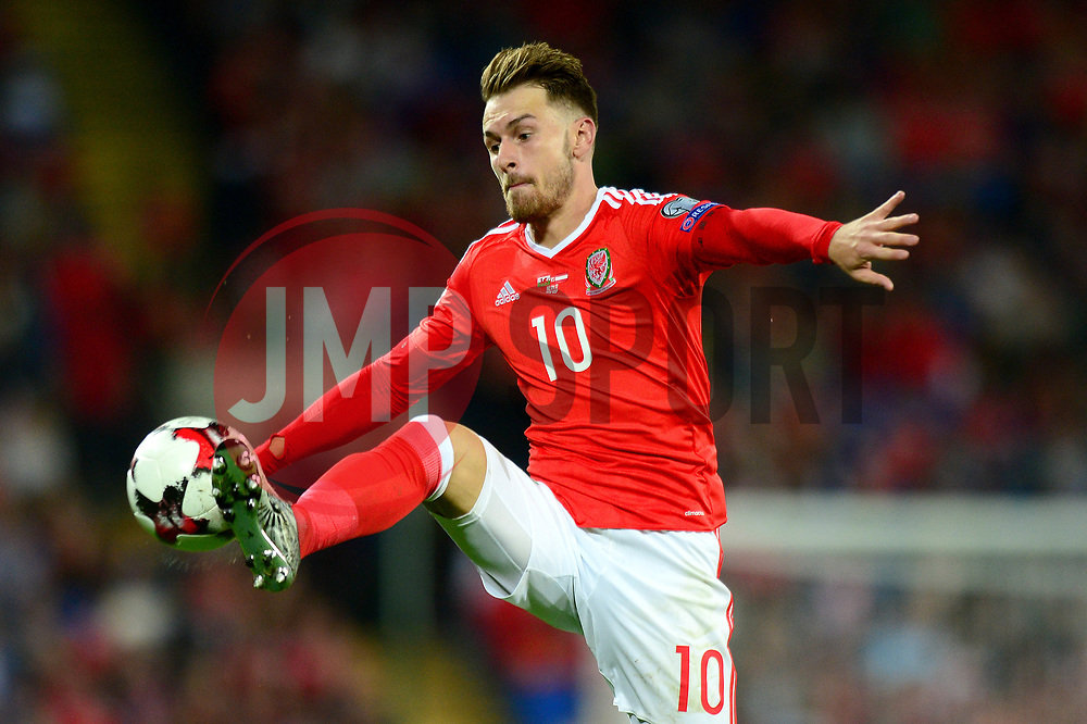 Aaron Ramsey of Wales - Mandatory by-line: Dougie Allward/JMP - 02/09/2017 - FOOTBALL - Cardiff City Stadium - Cardiff, Wales - Wales v Austria - FIFA World Cup Qualifier 2018