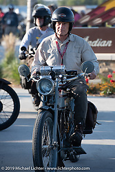 Steve Decosa riding his 1915 Harley-Davidson 11F on the Motorcycle Cannonball coast to coast vintage run. Stage 7 (274 miles) from Cedar Rapids to Spirit Lake, IA. Friday September 14, 2018. Photography ©2018 Michael Lichter.