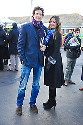 LADY NATASHA RUFUS-ISAACS and RUPERT FINCH at the 2012 Hennessy Gold Cup at Newbury Racecourse, Berkshire on 1st December 2012