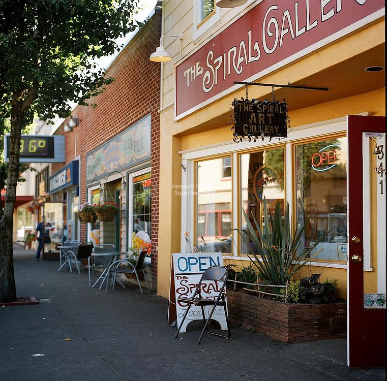 The Spiral Gallery in downtown Estacada, Oregon