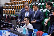 DESCRIZIONE : Campionato 2014/15 Dinamo Banco di Sardegna Sassari - Dolomiti Energia Aquila Trento Playoff Quarti di Finale Gara3<br /> GIOCATORE : Gianluca Mattioli Gianluca Sardella Luca Weidmann<br /> CATEGORIA : Instant Replay TV Before Pregame Arbitro Referee<br /> SQUADRA : AIAP<br /> EVENTO : LegaBasket Serie A Beko 2014/2015 Playoff Quarti di Finale Gara3<br /> GARA : Dinamo Banco di Sardegna Sassari - Dolomiti Energia Aquila Trento Gara3<br /> DATA : 22/05/2015<br /> SPORT : Pallacanestro <br /> AUTORE : Agenzia Ciamillo-Castoria/L.Canu