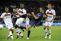 FOOTBALL - FRENCH CHAMPIONSHIP 2012/2013 - L1 - PARIS SG v FC LORIENT - 11/08/2012 - PHOTO JEAN MARIE HERVIO / REGAMEDIA / DPPI - GOAL ZLATAN IBRAHIMOVIC (PSG)