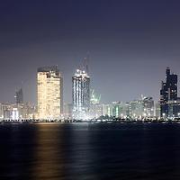 Abu Dhabi, United Arab Emirates 06 April 2009.Abu Dhabi skyline at sunset..PHOTO: EZEQUIEL SCAGNETTI