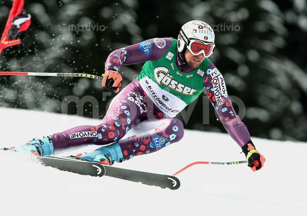 Ski Alpin;  Saison 2007/2008  18.01.2008 68. Hahnenkamm Rennen  Super G Sieger Marco Buechel (LIE)