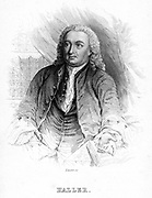 Albrecht von Haller (1708-1777), Swiss physician and scientist who was the founder of neurology. Experimental physiology. From 'The Naturalist's Library', edited W Jardine, (Edinburgh, 1839 and 1854). Engraving c1840.