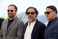Yorgos Lanthimos, Alejandro Gonzalez Inarritu, Enki Bilal at the Jury photo call at the 72nd Cannes Film Festival, Tuesday 14th May 2019, Cannes, France. Photo credit: Doreen Kennedy