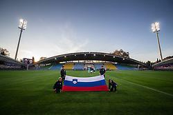 Flag boys before friendly Football match between U21 national teams of Slovenia and England, on October 11, 2019 in Ljudski Vrt, Maribor, Slovenia. Photo by Blaž Weindorfer / Sportida