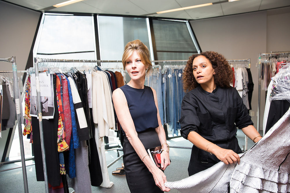 Roberta Myers, editor-in-chief of  Elle, and Samira Nasr, fashion director in 2016.