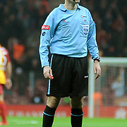 Referee's Cuneyt CAKIR during their Turkey Cup Quarter final matchday 2 Galatasaray between Gasiantepspor at the AliSamiYen Turk Telekom Arena in Istanbul Turkey on Wednesday 02 March 2011. Photo by TURKPIX