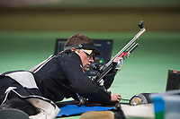 SKYTING<br /> 14. august 2016<br /> Olympiske leker <br /> Rio de Janeiro<br /> 50m rifle , 3 positions , menn<br /> Ole Kristian Bryhn , Norge i finalen<br /> Foto: Astrid M. Nordhaug