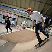 Young boys on skateboard in Milan