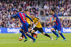 November 19, 2016 - Barcelona, Calatonia, Spain - Sandro Ramirez during the match between FC Barcelona vs Malaga CF, for the round 12 of the Liga Santander, played at Camp Nou Stadium on 19th November 2016 in Barcelona, Spain. (Credit Image: © Urbanandsport/NurPhoto via ZUMA Press)
