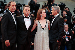 Actors Matt Damon, Julianne Moore and George Clooney with wife Amal Clooney walk the red carpet ahead of the 'Suburbicon' screening during the 74th Venice Film Festival at Sala Grande on September 2, 2017 in Venice, Italy. 02 Sep 2017 Pictured: Matt Damon ,Julianne Moore, George Clooney. Photo credit: Fernanda Bareggi / MEGA TheMegaAgency.com +1 888 505 6342