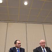 NLD/Amsterdam/20150521 - Persconferentie Michael van Praag ivm aftreden UEFA kandidatuur